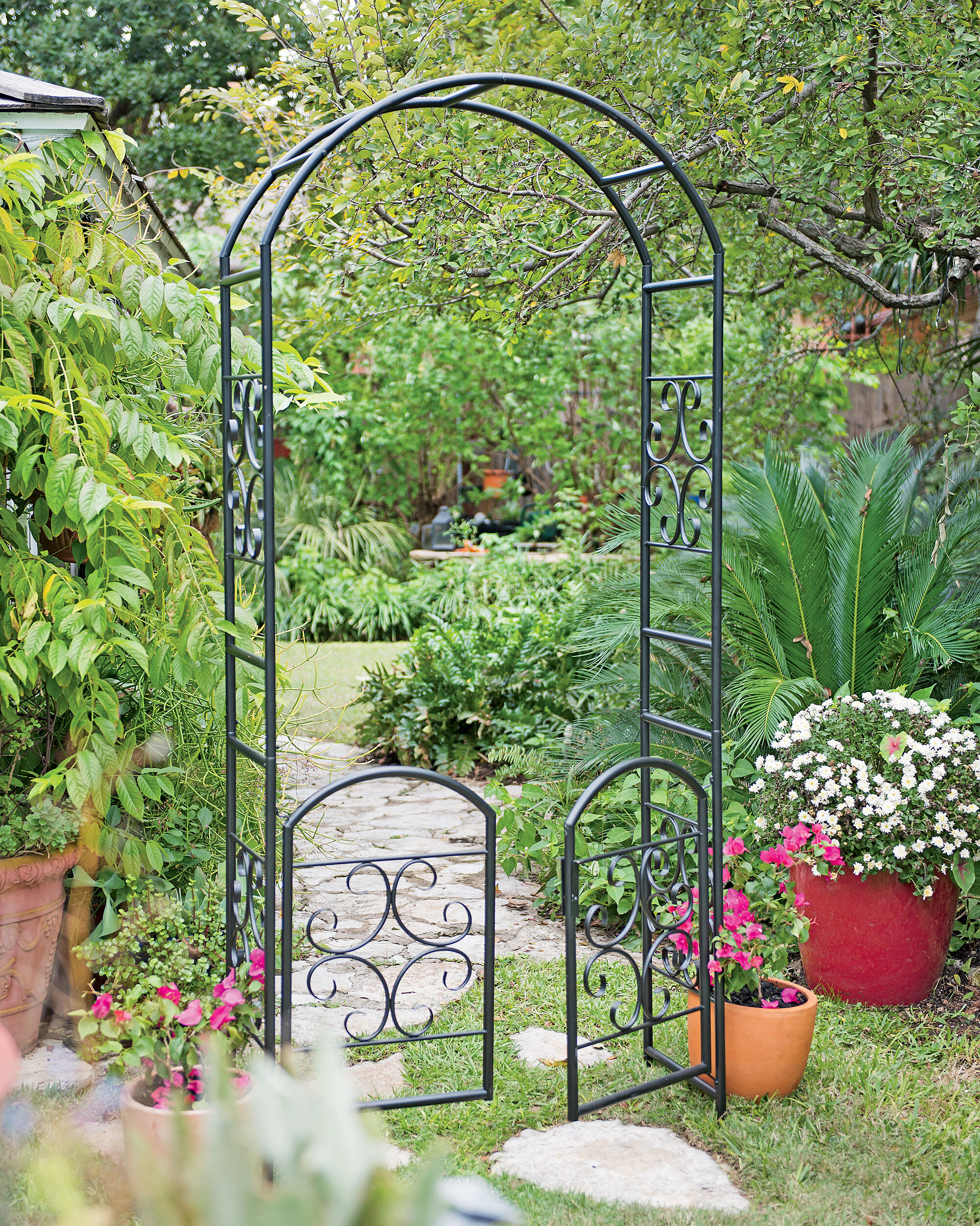 Metal Arbors With Gates Images