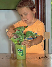 Mini Deltini Owl Self-Watering Planter