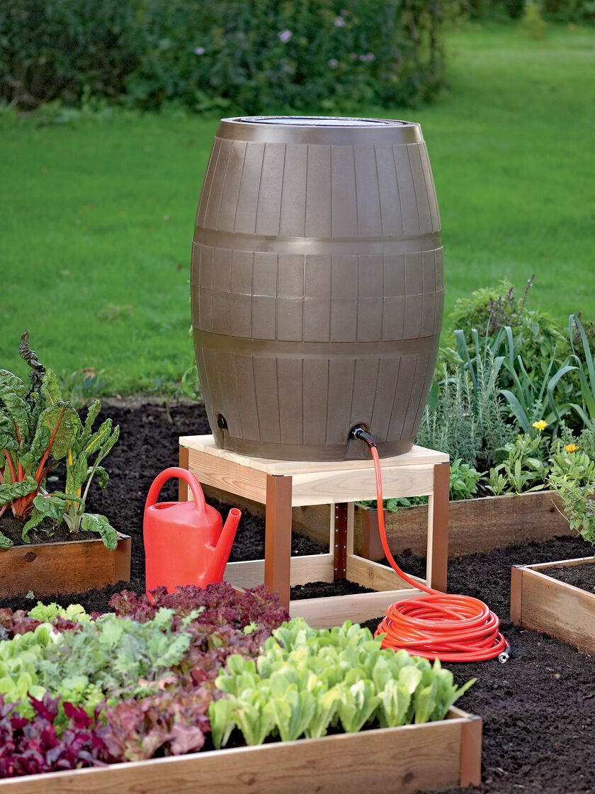 Rain Barrel Stand In Cedar Gardener S Supply