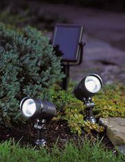 Dual Solar Spotlights