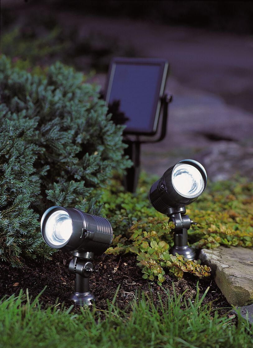 Bright Solar Lights Dual Solar Spotlight Gardeners Com