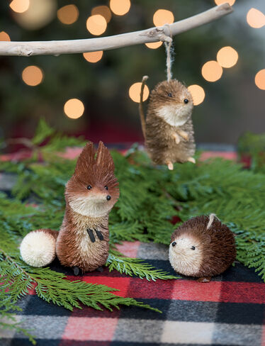 Woodland Animal Ornaments, Set of 3