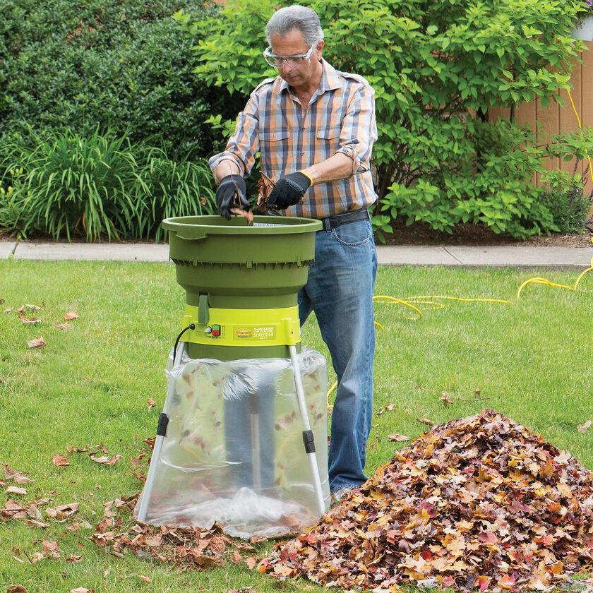 leaves shredding machine