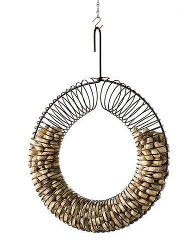 Peanut Wreath with Peanuts, Black