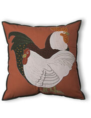 "Decorative Chicken Pillow, 18"" Square"