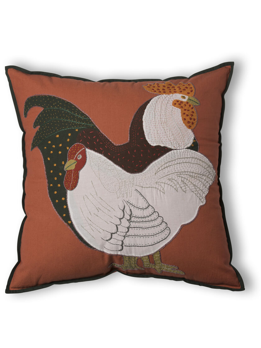 Decorative throw pillows chicken pillow 18 square embroidered - Decorative throw pillows ...