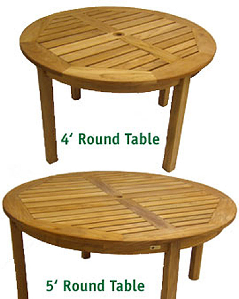 Round teak dining table buy from gardener 39 s supply for Buy round table