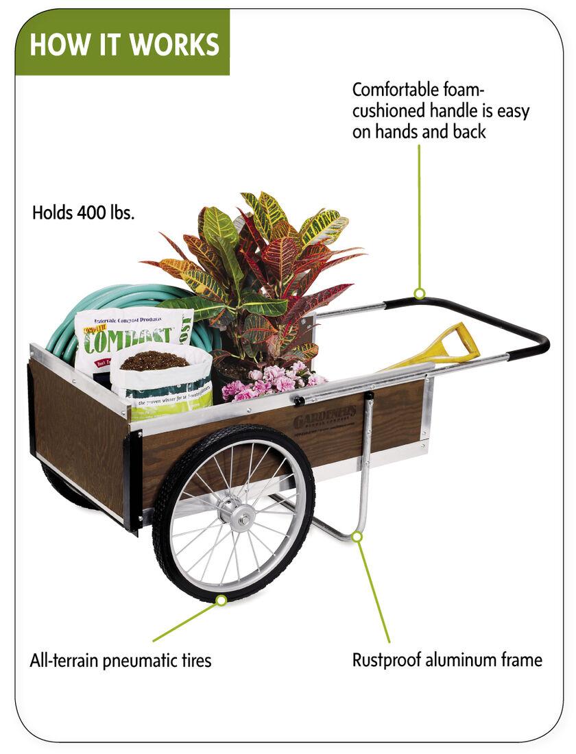 Garden cart medium garden wagon yard cart for Gardeners supply burlington