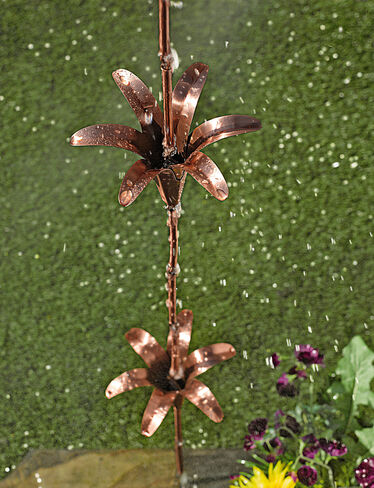 Copper Lily Rain Chain
