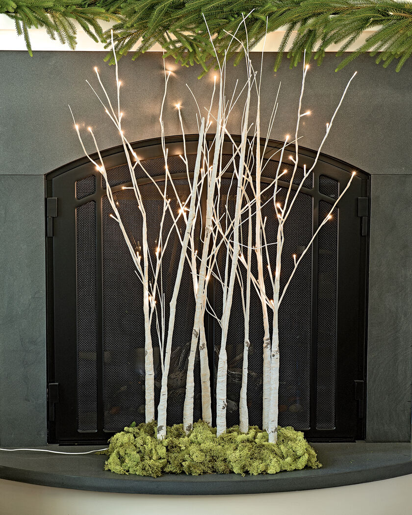 lighted branches decorative pre lit winter birch branches