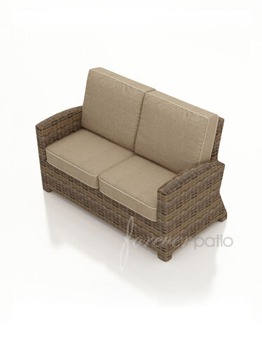 Resin Wicker Loveseat Cypress Outdoor Wicker Loveseat
