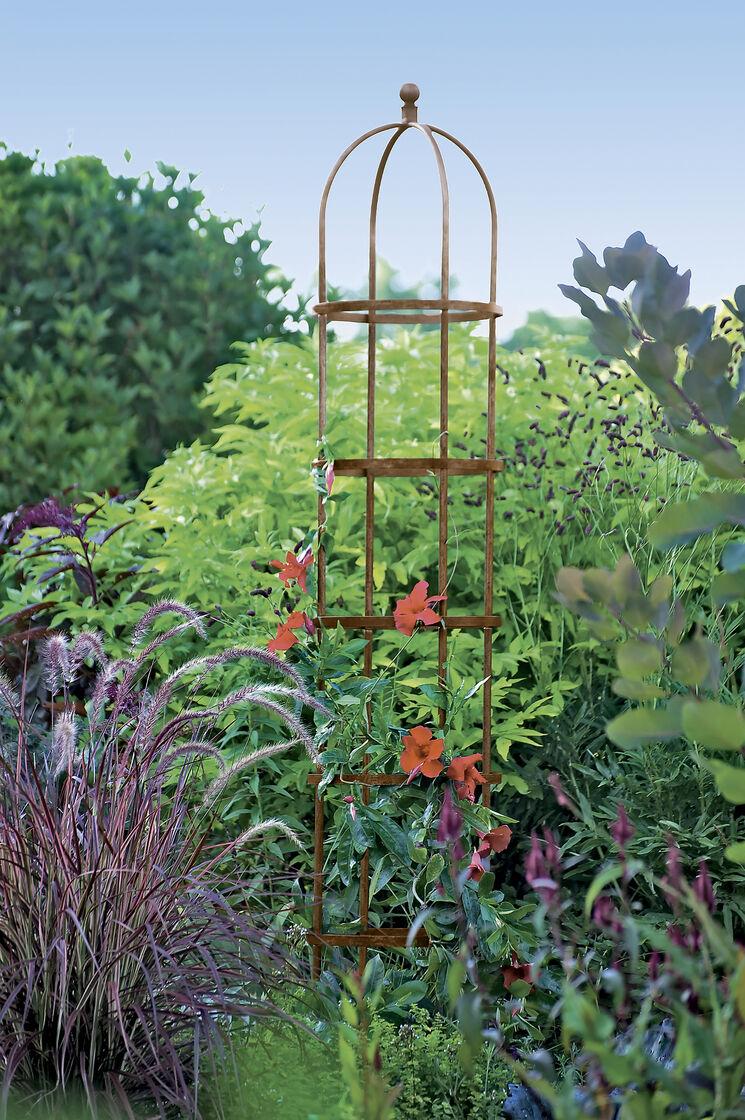 Jardin round garden obelisk tuteur 7 ft for Jardin 86