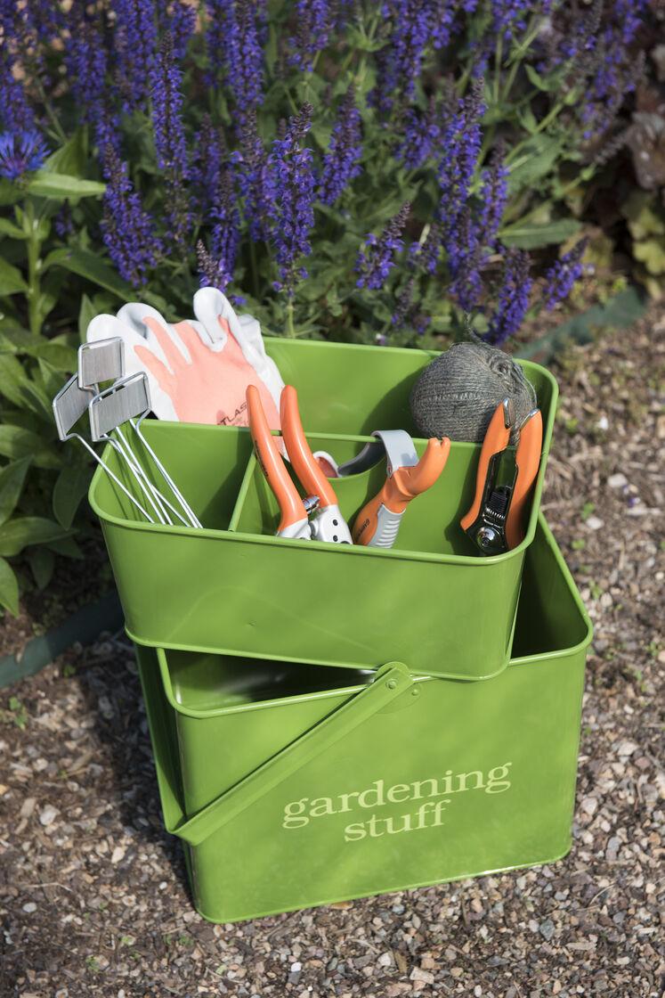 Garden Tool Caddy Green Metal Tool Caddy Gardeners Com