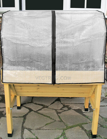 *Greenhouse Cover with Frame on Compact VegTrug Patio Garden (sold separately)