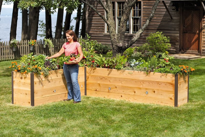 elevated cedar raised bed kit elevated bed made in vermont - Garden Box Design Ideas