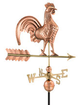Copper Rooster Weathervane, Standard Size