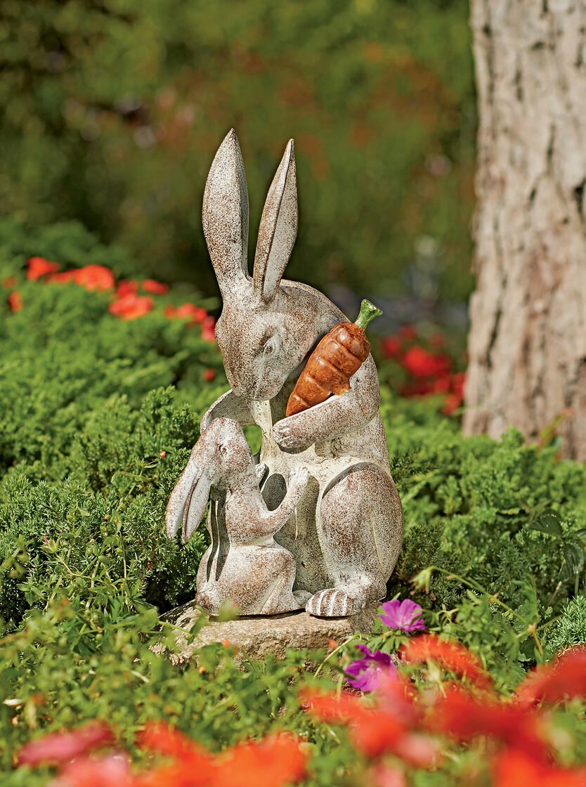 Rabbit Sculpture Mothers Love Garden Sculpture