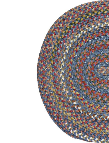 Half Round Country Jewel Braided Rug, 3'