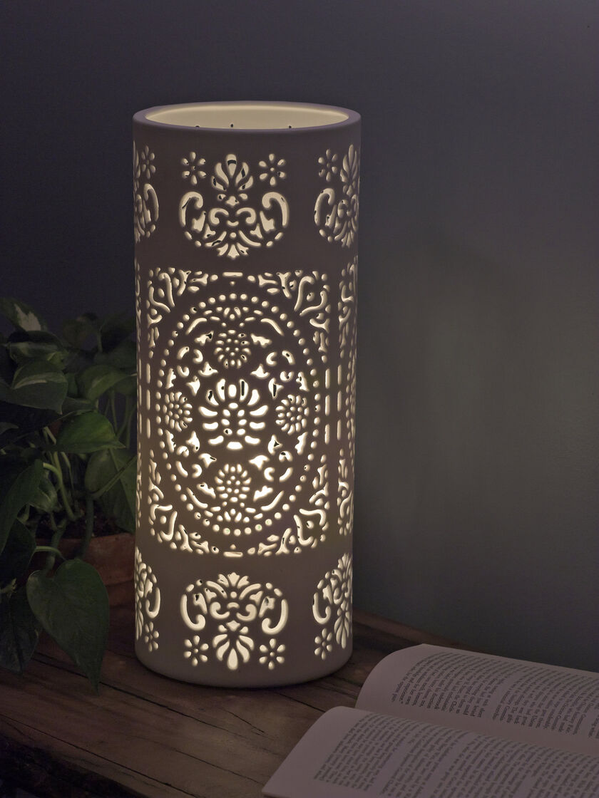 Pierced Porcelain Table Lamps Buy From Gardener S Supply