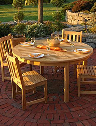 Round Teak Dining Table Buy From Gardener 39 S Supply