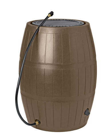 Deluxe Rain Barrel, Brown