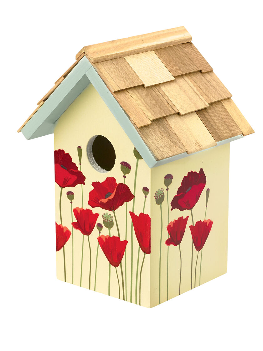 Floral print birdhouse decorative and functional for House painting images