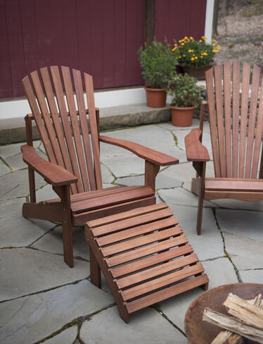 Lodge Adirondack Chair & Ottoman