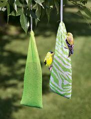 Pair of Socks Finch Feeders