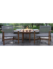 Teak and Wicker Lounge Set