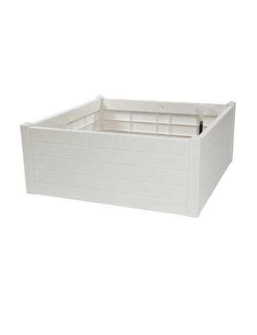 Self-Watering Raised Bed, White