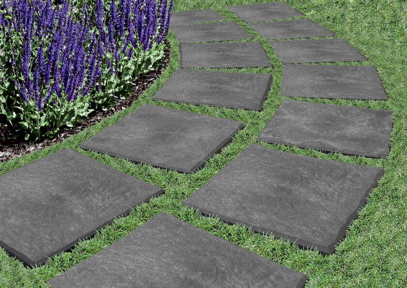 Stomp Stones Garden Pavers Recycled Rubber Pavers Gardenerscom