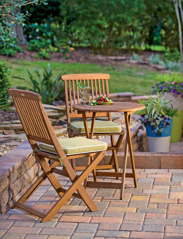 3-Piece Outdoor Bistro Set with Cushions