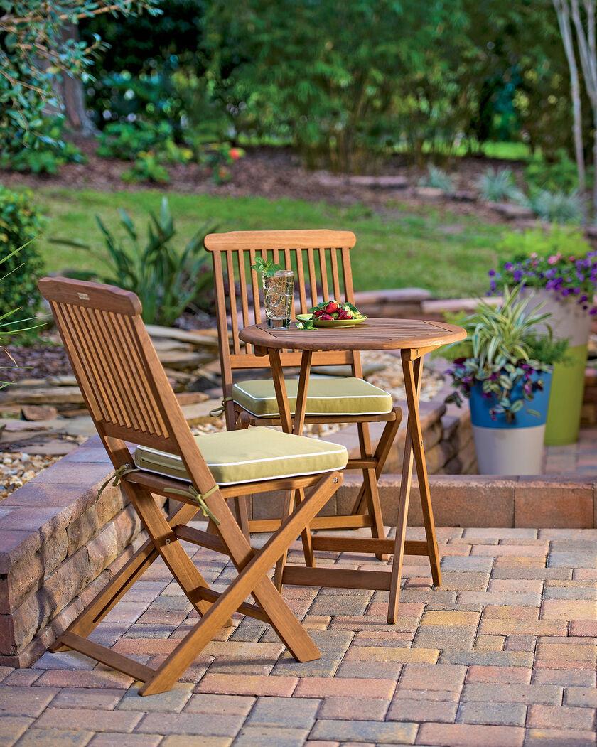 3 piece bistro set folding bistro set small wood bistro set. Black Bedroom Furniture Sets. Home Design Ideas