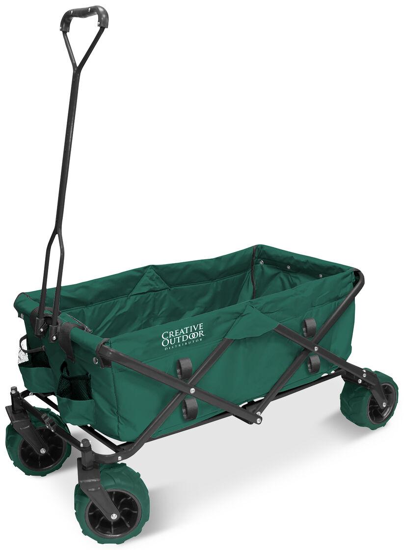 Folding Utility Wagon >> Folding All Terrain Wagon for Beach or Garden - Heavy Duty