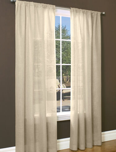 "Sheer Insulated Curtain, 95"" L x 50"" W"