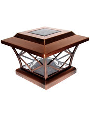 Craftsman-Style Solar Post Cap Light