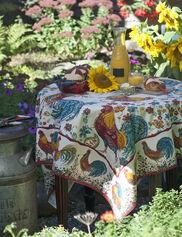 "Doodle Doo Tablecloth, 54"" Square"