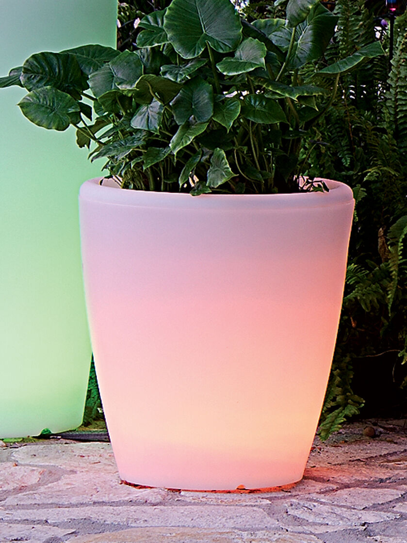 Solar Illuminated Planter Medium