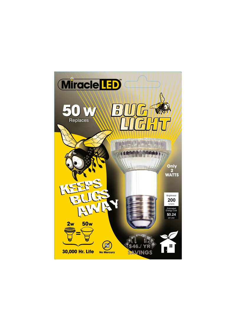 Led Bug Light Bulb 200 Lumens For Outdoor Fixtures
