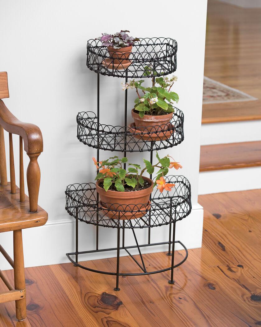 Half Round Plant Stand Metal Indoor Outdoor Gardeners Com