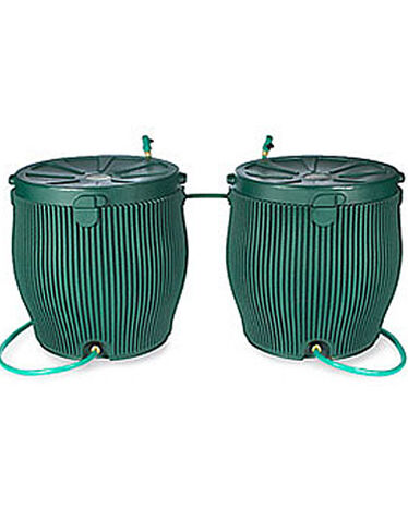 Two English Rain Barrels with FREE Linking Kit