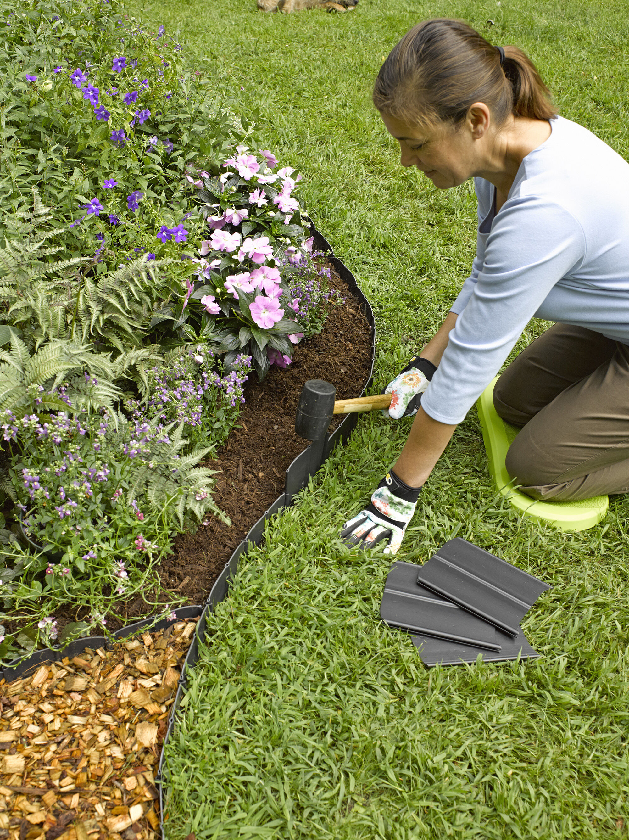 Valley View Industries Royal Diamond 60 ft. Plastic Lawn Edging-RD ...