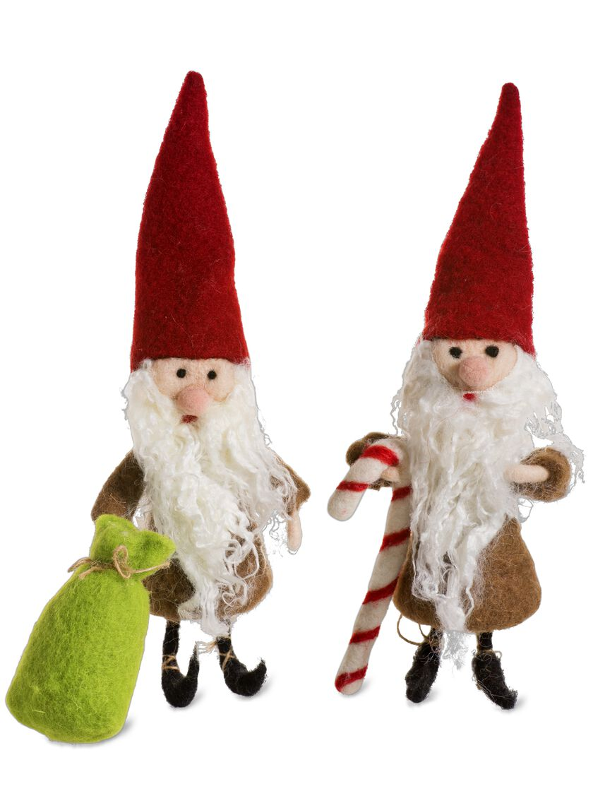 Christmas Elves Decorations - Felted Wool Christmas Ornaments
