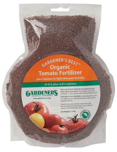 Gardener's Best® Organic Tomato Fertilizer, 24 Oz. Organic Tomato Fertilizer, Manure, Compost, Vegetable Soil,  Rake, Cultivator, Hoe, Garden Fork