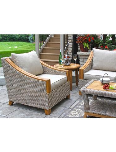 Vineyard Outdoor Wicker and Teak Armchair