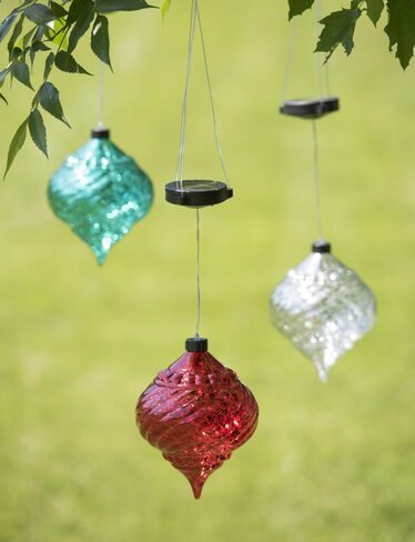 Large Outdoor Christmas Ornaments - Hanging Onion Solar ...