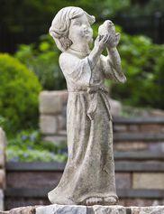 Child with Bird Statue