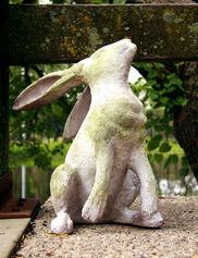 Perky Rabbit Garden Sculpture