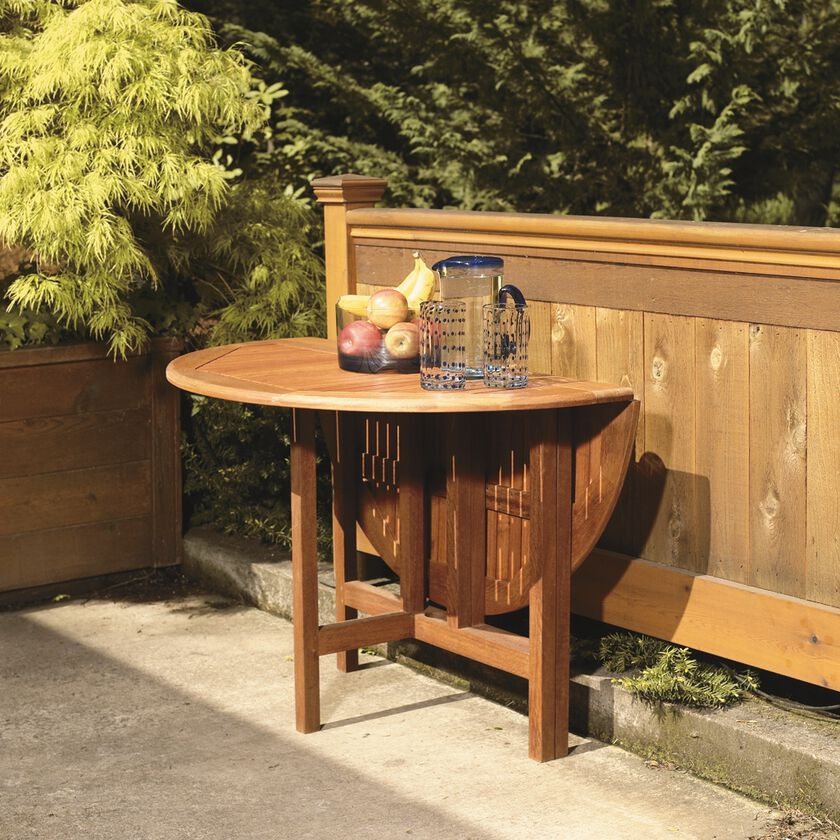 Drop Leaf Patio Table 42 Quot Round Wood Gate Leg Table