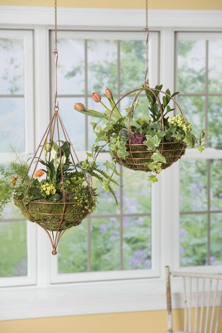 Copper Wire Globe Hanging Basket Air Plant Terrarium